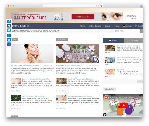 Magazine WordPress news theme - gesunde-bakterien.de/en