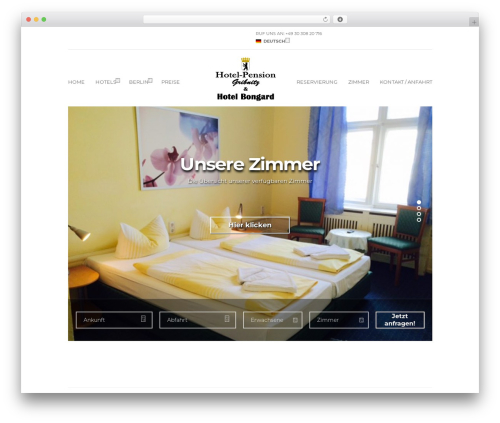 Santorini Resort WordPress theme design - gruppenpensionberlin.de