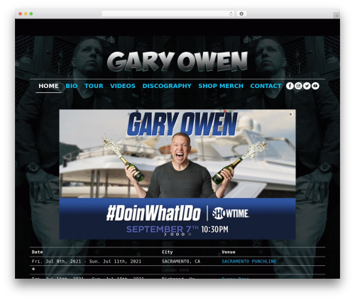 WordPress template Fame - garyowen.com