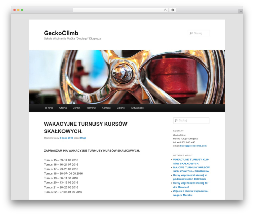 WordPress theme Twenty Eleven - geckoclimb.com