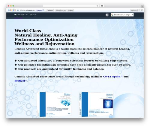 X WordPress page template - gen-ab.com