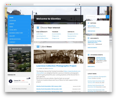 Best WordPress template TownPress - glenties.ie