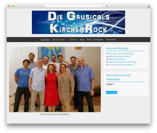 BlueGray WordPress template free - grusicals.de