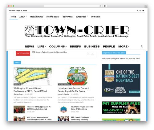 Newspaper WordPress news theme - gotowncrier.com