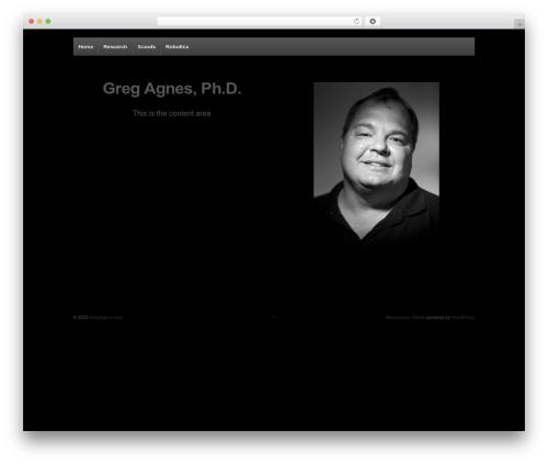 Responsive WordPress template free download - gregagnes.com
