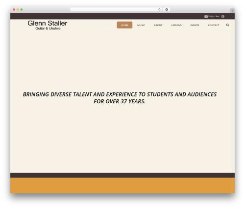 Template WordPress Jupiter - glennstaller.com