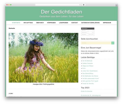 Template WordPress RetroTale - gedichtladen.de/blog