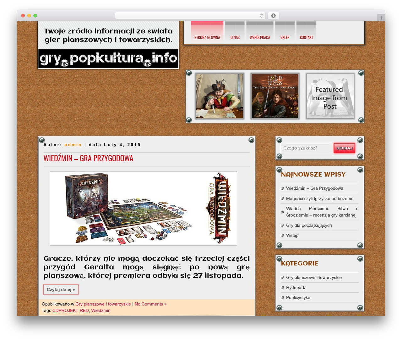 DISCUSSION free WP theme - gry.popkultura.info