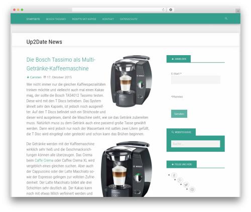 Polymer WordPress news theme - newsup2date.de