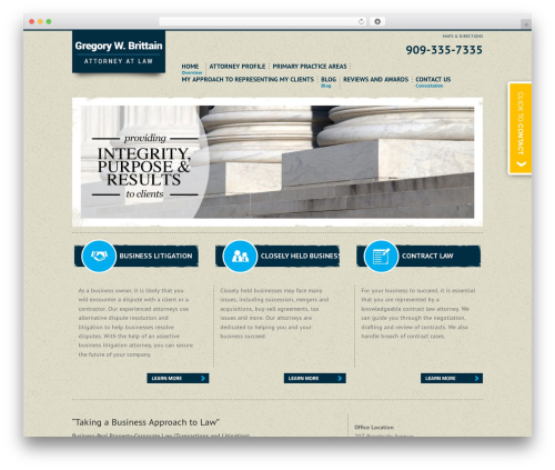 Project X v2 WordPress template for business - gbrittainlaw.com
