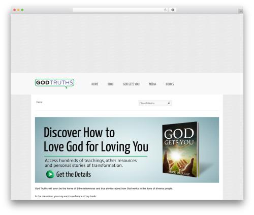 Reverence WordPress theme - godtruths.com