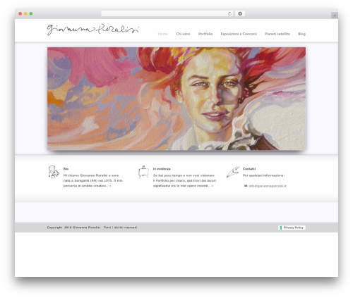 Striking MultiFlex & Ecommerce Responsive WordPress Theme best portfolio WordPress theme - giovannapieralisi.it