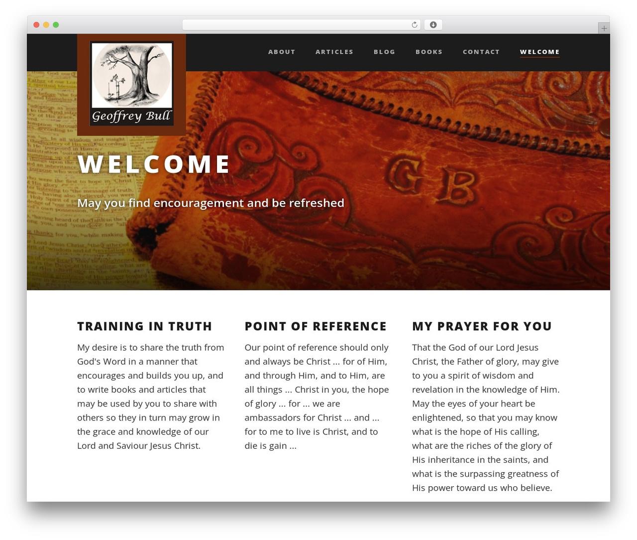 Template WordPress Suite - geoffreybull.com