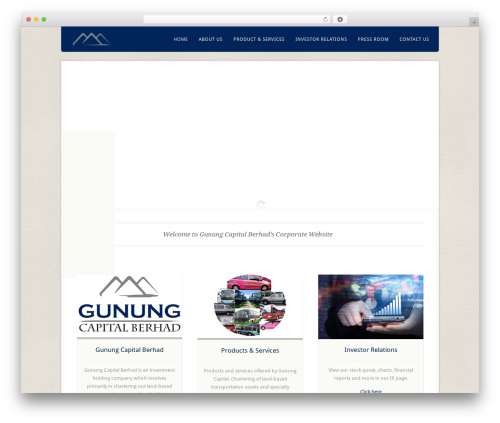 Theme WordPress Acoustic - gunung.com.my