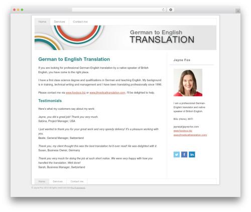 Theme WordPress Pro Framework - german-english-translation.net