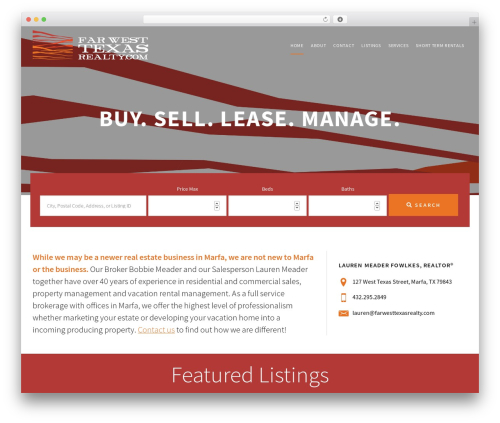 Agent Focused Pro WP template - farwesttexasrealty.com