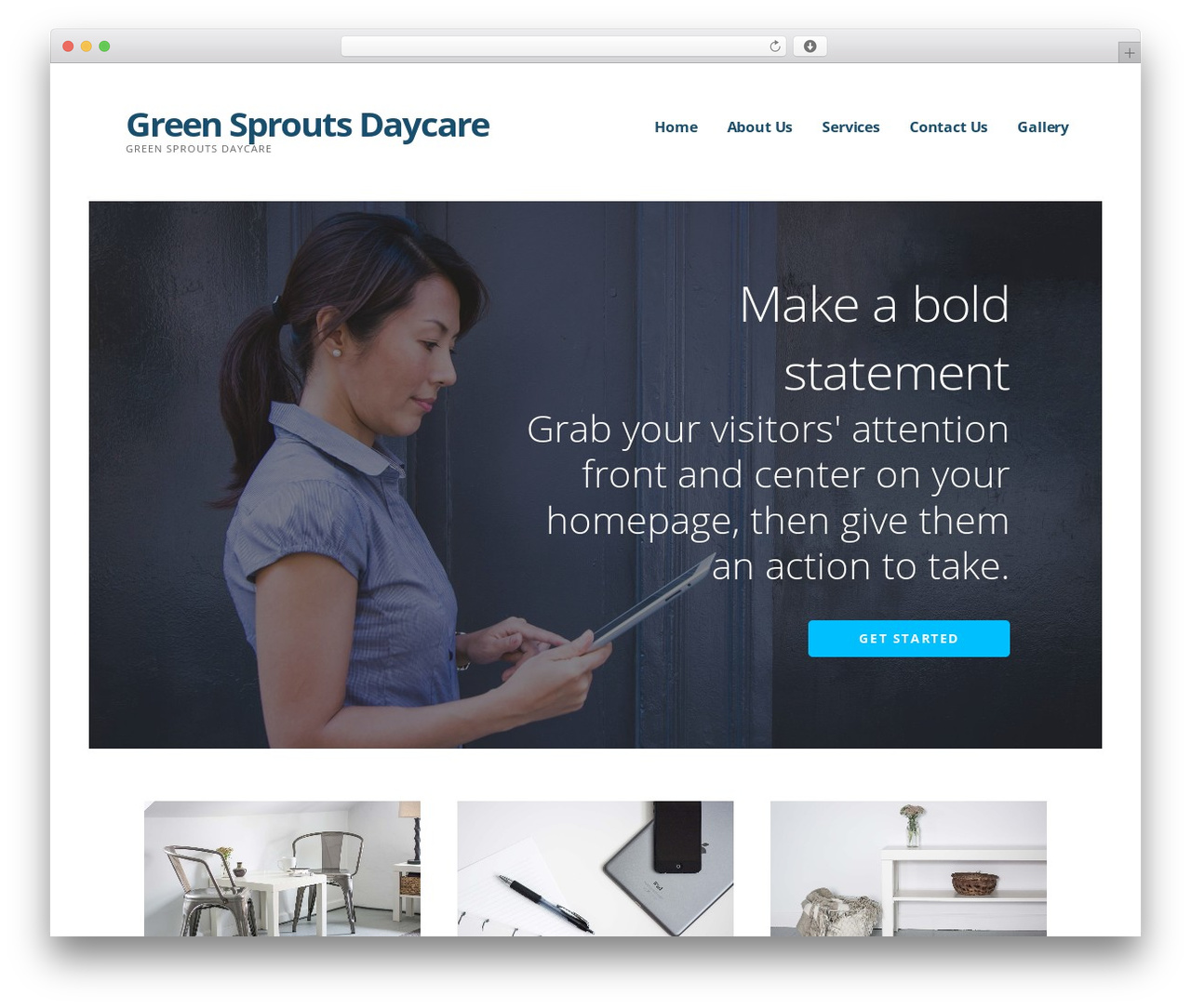 Ascension WordPress theme - greensproutsdaycare.org
