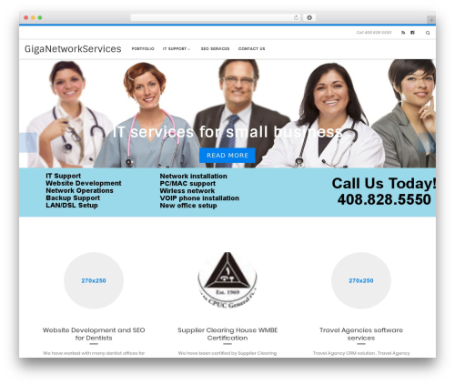 Customizr free WP theme - giganetworkservices.com