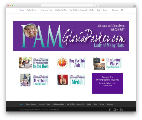 Divi premium WordPress theme - gloriaparker.com