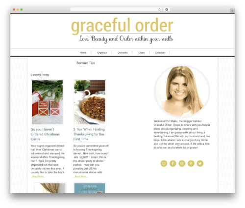 Innovative Child Theme WordPress template - gracefulorder.com