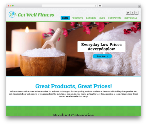 MX WordPress shopping theme - getwellfitness.com