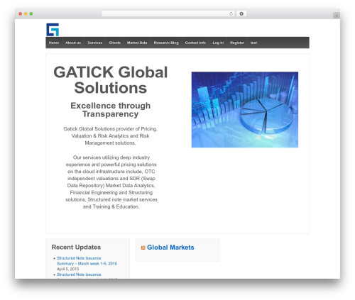 Responsive WordPress template free download - gatick.com