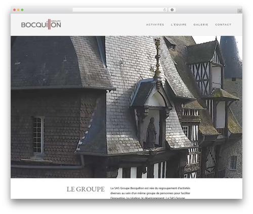 Skylar WordPress theme - groupebocquillon.com
