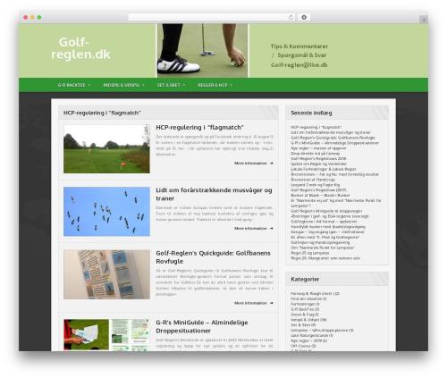 Sportimo Premium Theme WordPress theme - golf-reglen.dk