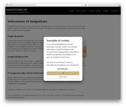 Terminal Lite WordPress theme design - gadgetlinks.dk