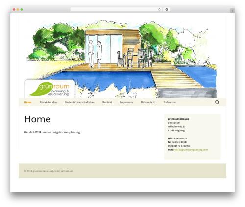 Twenty Thirteen template WordPress free - gruenraumplanung.com