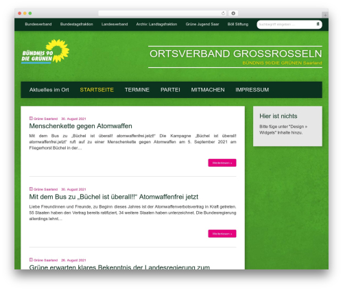 WordPress template Urwahl3000 - gruene-grossrosseln.de