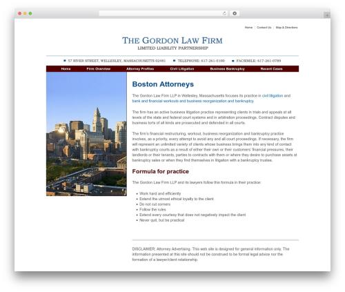 WordPress theme Responsive - gordonfirm.com