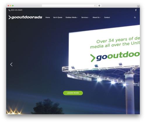 Architect top WordPress theme - gooutdoorads.com