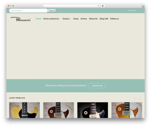 Captiva WordPress theme - guitarlounge.nl