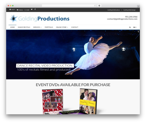 MX WordPress website template - goldingproductions.com