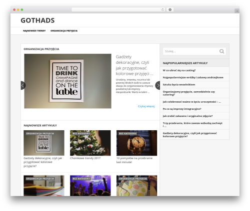 NewsToday by MyThemeShop WordPress news theme - gothads.pl