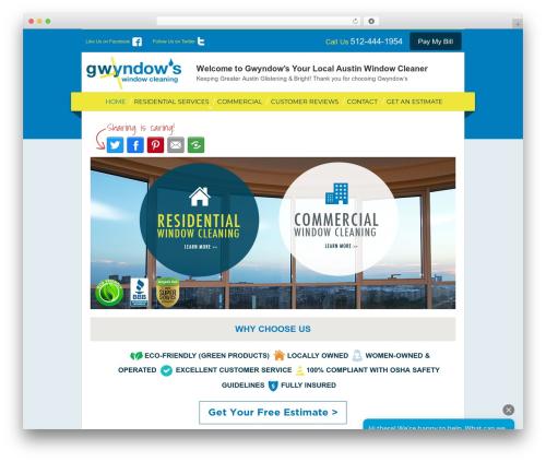 Responsive free WordPress theme - gwyndows.com
