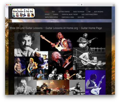 Template WordPress SKT Photo World Pro - guitar-lessons-at-home.org