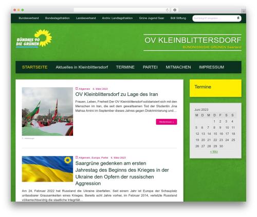 Urwahl3000 top WordPress theme - gruene-kleinblittersdorf.de