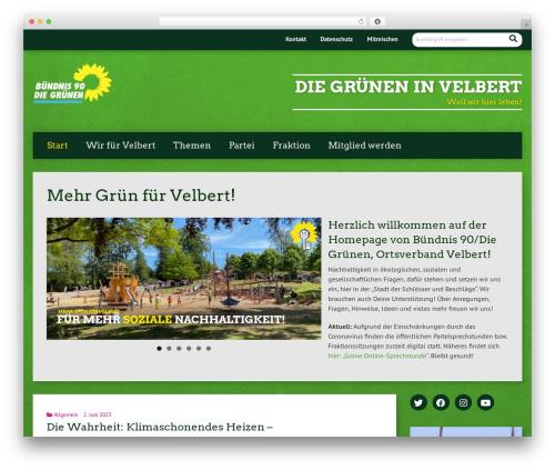Urwahl3000 WordPress website template - gruene-velbert.de