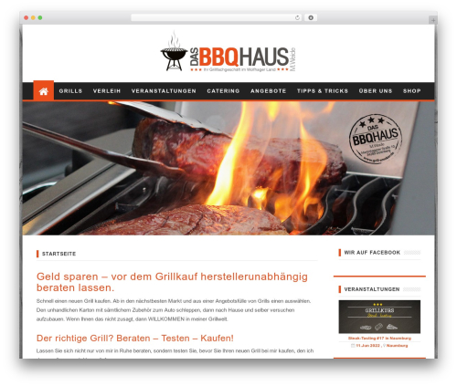 First Mag best free WordPress theme - grill-smoker.de