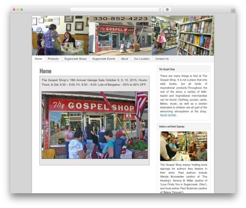Sample Child Theme WordPress shop theme - gospelshopsugarcreek.com