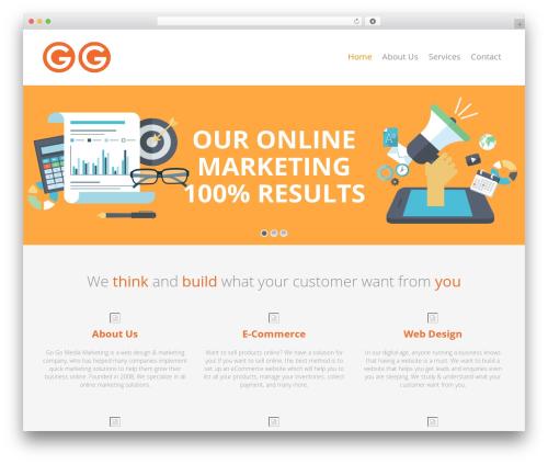 Studio best free WordPress theme - gogomedia.sg