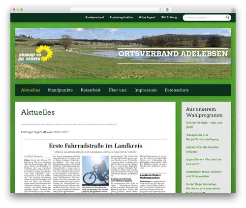 Urwahl3000 WordPress theme design - gruene-adelebsen.de