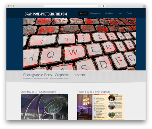WordPress theme Envision Child - graphisme-photographie.com