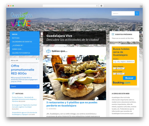 WordPress theme TownPress (shared on wplocker.com) - guadalajaravive.com.mx