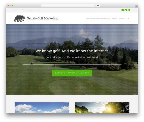 X business WordPress theme - grizzlygolfmarketing.ca