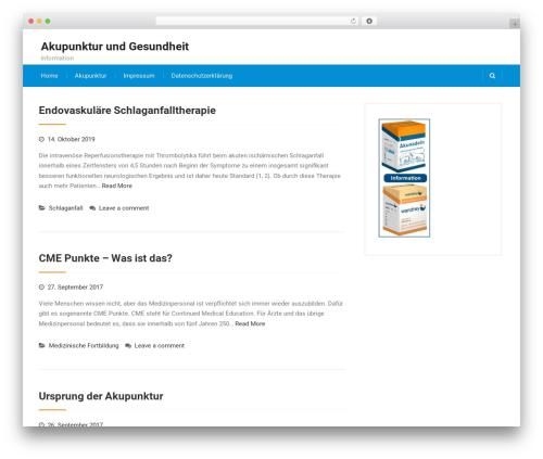 Best Business WP theme - akupunkturundgesundheit.de