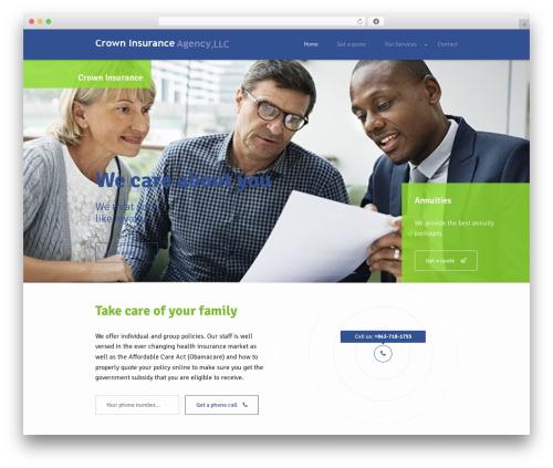 Best WordPress theme Insurance WordPress Theme - crowninsagency.com