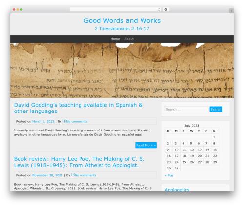 BlueGray free WordPress theme - goodwordsandworks.com